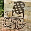 International Caravan Santa Fe Nailhead Iron Patio Rocking Chair