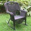 International Caravan Riviera Wicker Resin Aluminum Large Patio Rocking Chair