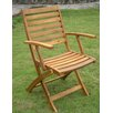 International Caravan Acacia Chelsea Folding Dining Arm Chair (Set of 2)