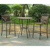 International Caravan Valencia 3 Piece Bar Height Dining Set