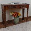 International Caravan Windsor Hand Carved Wood 2-Drawer Indoor Console Table