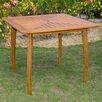 International Caravan Royal Tahiti Wood Patio Bistro Table