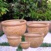 International Caravan 5 Piece Round Pot Planter Set