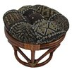 Blazing Needles Papasan Tapestry Ottoman Cushion