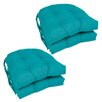 Blazing Needles Outdoor Dining Chair Cushion (Set of 4)