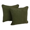 Blazing Needles Package Microsuede Throw Pillow (Set of 2)