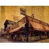 Graffitee Studios New York Coney Island Food Vendors Wrapped Photographic Print on Canvas