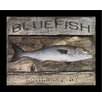Graffitee Studios Coastal Bluefish Framed Graphic Art