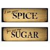 Graffitee Studios Collocations You are My Sugar/I am Your Spice 2 Piece Textual Art on Wrapped Canvas Set