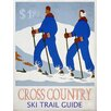 Graffitee Studios Winter Cross Country Ski Trail Guide Vintage Advertisement on Wrapped Canvas