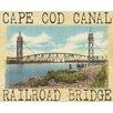 Graffitee Studios MA Townies Cape Cod Railroad Bridge Graphic Art on Wrapped Canvas