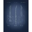 Graffitee Studios Fender Patents Stratocaster Graphic Art on Wrapped Canvas