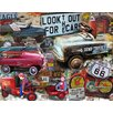 Graffitee Studios Rated G Kids Look out for Cars Canvas Art
