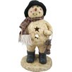 Craft Outlet Lighted Snowman Holding Lantern