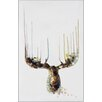 Benjamin Parker Galleries Antlers Original Painting on Wrapped Canvas