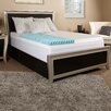 "Luxury Solutions 4"" Textured Gel Memory Foam Mattress topper w/ cover"