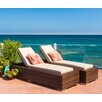 Ohana Depot Double Chaise Lounge with Cushion (Set of 2)