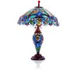 """River of Goods Victorian Style Double Lit 26"""" H Table Lamp with Bowl Shade"""