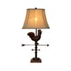 "River of Goods Weathervane Rooster 29"" H Table Lamp with Bell Shade"