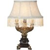 """River of Goods Downton Abbey 12.5"""" H Fringe Accent Table Lamp with Empire Shade"""