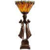 "River of Goods Art Deco Table Top Torchiere 27"" H Table Lamp with Novelty Shade"