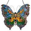 River of Goods Stained Glass Swallowtail Butterfly Window Panel