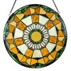River of Goods Golden Leaves Stained Glass Panel