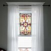 River of Goods Brandi Stained Glass Window/Wall Panel in Amber