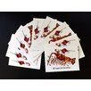 Kim Rody Creations Christmas Crawfish Holiday Note Card (Set of 10)