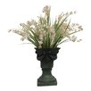 Silk Flower Depot French Country Chic Lily of the Valley in Footed Urn
