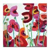 Artist Lane Poppy Mixed by Anna Blatman Painting Print on Wrapped Canvas