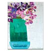 Artist Lane Green Pot with Irises by Anna Blatman Painting Print on Wrapped Canvas