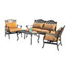 Sunjoy Largemont 4 Piece Seating Group with Cushions