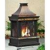 Sunjoy Brownston Steel Wood Outdoor Fireplace