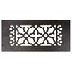 "Acorn 4"" x 10"" Cast Iron Floor Register Trim in Black"