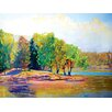 Portfolio Canvas Decor 'Summer Trees' by Sokol-Hohne Framed Painting Print on Wrapped Canvas