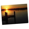 Portfolio Canvas Decor Sunset Pier by Ilona Wellmann Photographic Print on Wrapped Canvas