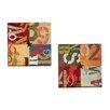 Portfolio Canvas Decor Alphabits I by K. Tomlin 2 Piece Textual Art on Wrapped Canvas Set