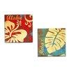 Portfolio Canvas Decor Aloha 1 by Deborah Mori 2 Piece Graphic Art on Wrapped Canvas Set