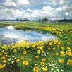 Portfolio Canvas Decor Yellow Poppy Vista by Sandy Doonan Painting Print on Wrapped Canvas