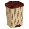 Superior Performance 1.6-Gal. Rattan Compact Trash Bin