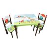 Fantasy Fields Enchanted Woodland 3 Piece Rectangle Table and Chair Set