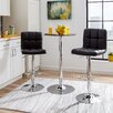 Zipcode Design Adjustable Height Swivel Bar Stool with Cushion