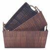 Baum 3 Piece Wood Storage Basket Set