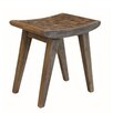 "Baum Coconut Saddle 17.5"" Bar Stool"
