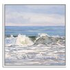 Gallery Direct Dark Green Turquoise Sea by Casey Chalem Anderson Framed Painting Print on Canvas