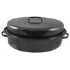 "HDS TRADING CORP 19"" Non-Stick Carbon Steel Roaster with Lid"
