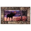 River's Edge Products Birch Moose Print Framed Wall Art