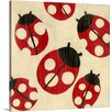 Great Big Canvas Best Friends Ladybugs by Chariklia Zarris Painting Print on Gallery Wrapped Canvas