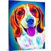Great Big Canvas Lucy DawgArt by Alica VanNoy Painting Print on Wrapped Canvas